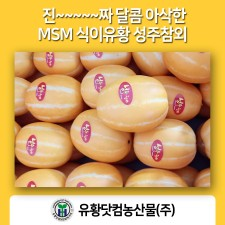 MSM으로 키운 달콤 아삭한 성주참외